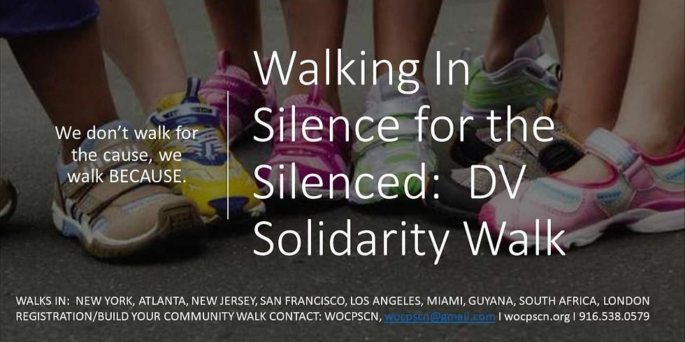 Walking In Silence for the Silenced: VIRTUAL Domestic Solidarity Walk