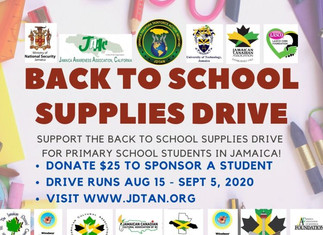 Jamaica's Back to School Supplies Drive