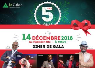 Célébrons ensemble le 5ème anniversaire de JA Gabon.