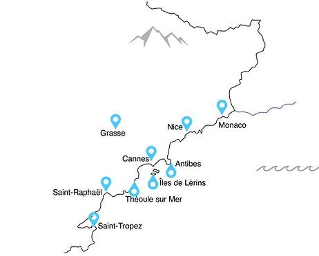 map frenchriviera