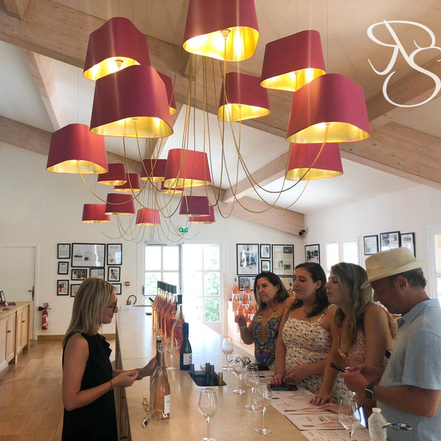 Wine tasting at Chateau d'Esclans