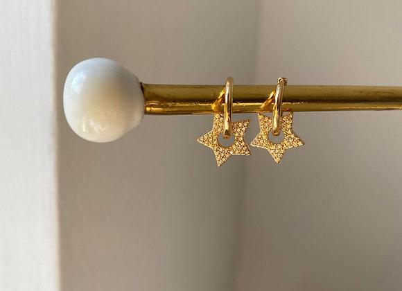 Ohrringe aritos lisos estrella