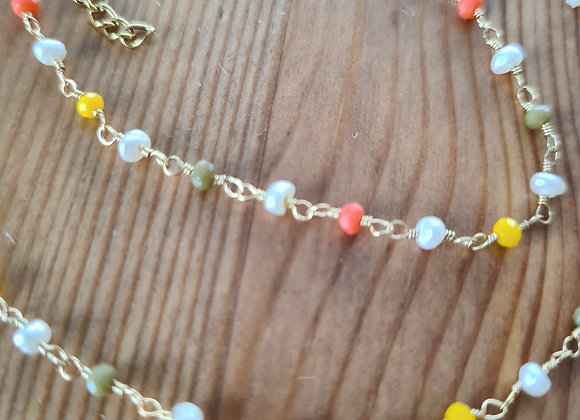 Halskette perlas