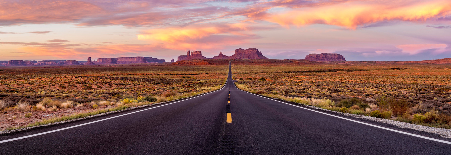 Lonely Road to Monument Valley
