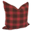 "Thumbnail: Red Plaid 18"" x 18"" Pillow Cover"