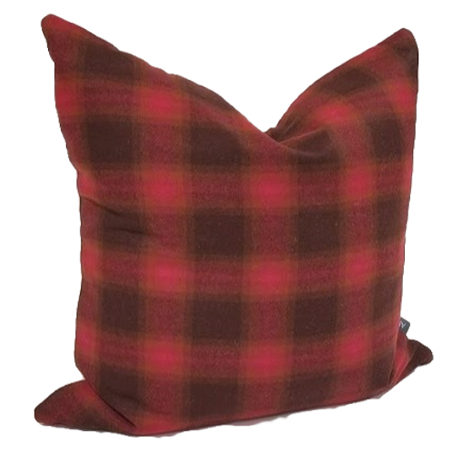 "Red Plaid 18"" x 18"" Pillow Cover"