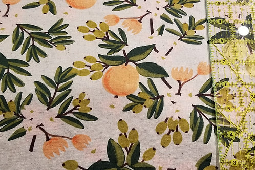 Face Mask / Rifle Paper Co. - Citrus Floral Sand Canvas