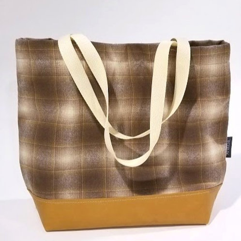 Copenhagen Tote - Plaid Wool / Leather