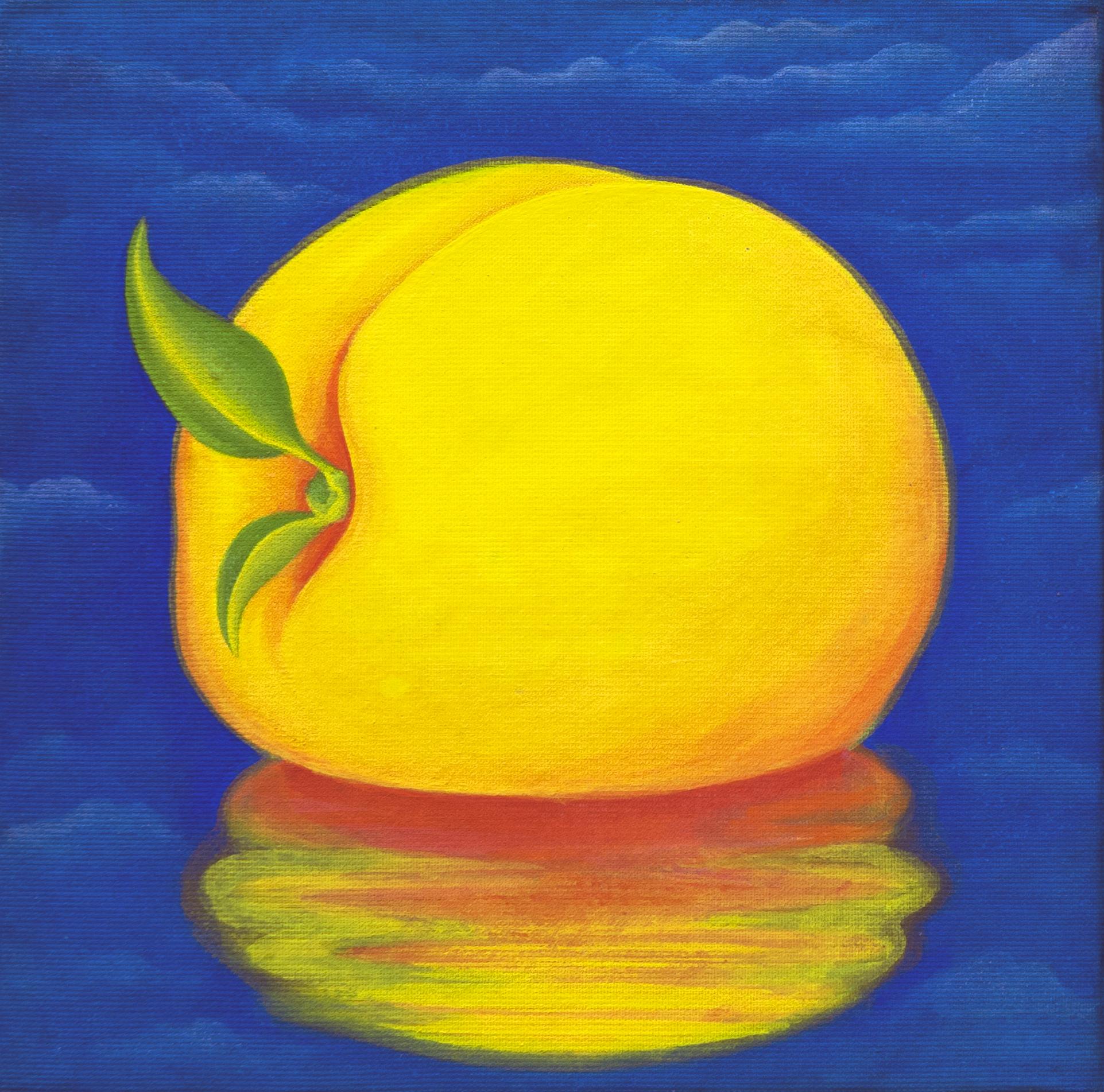 [작품8]Peach Paradise Ⅱ, 13x13cm, korean traditional silk painting, 2015.jpg