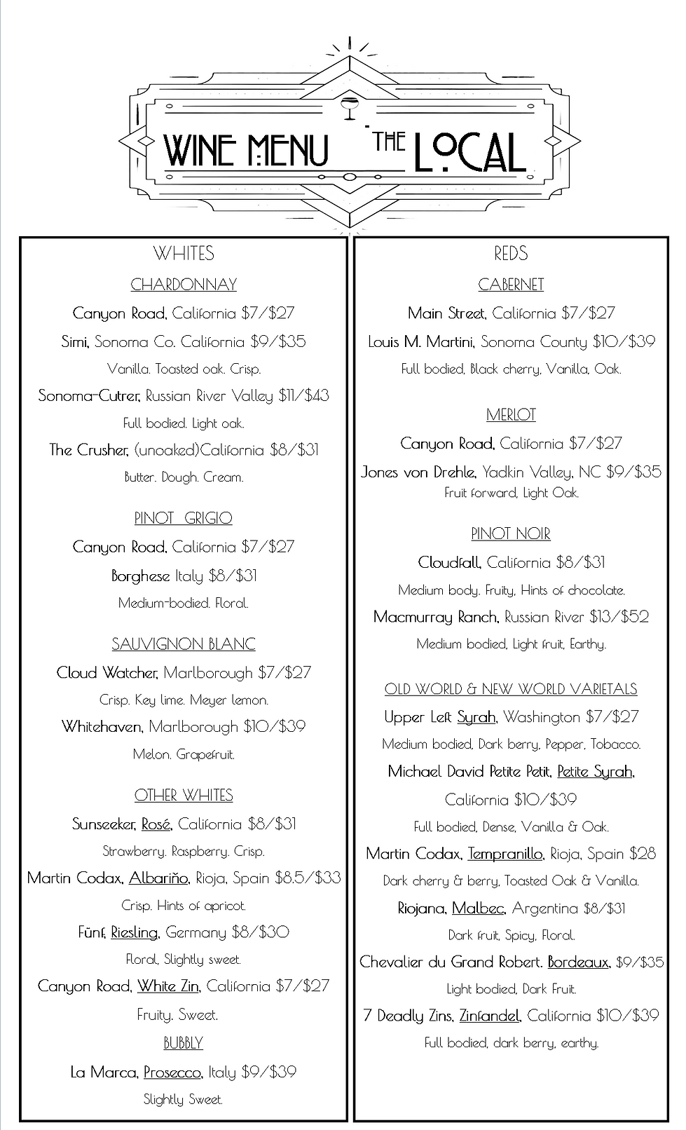 Wine List bLACK AND WHITE-FINAL Winter 2
