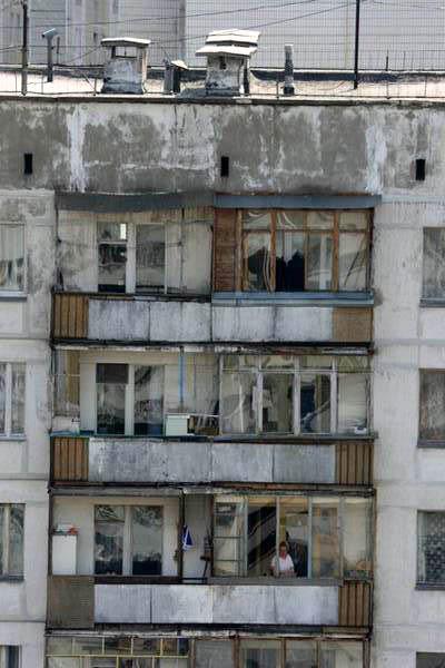 Balcons des premiers blocs soviétiques