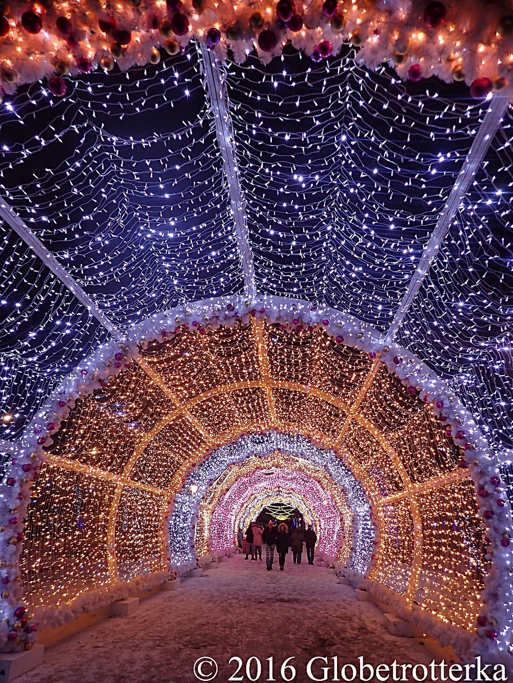 Illuminations sur le boulevard Tverskoï