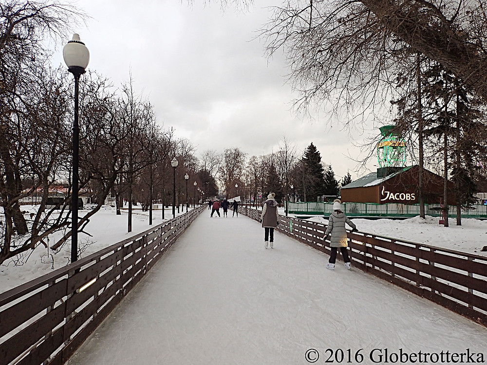Patinoire, Parc Gorki © 2016 Globetrotterka