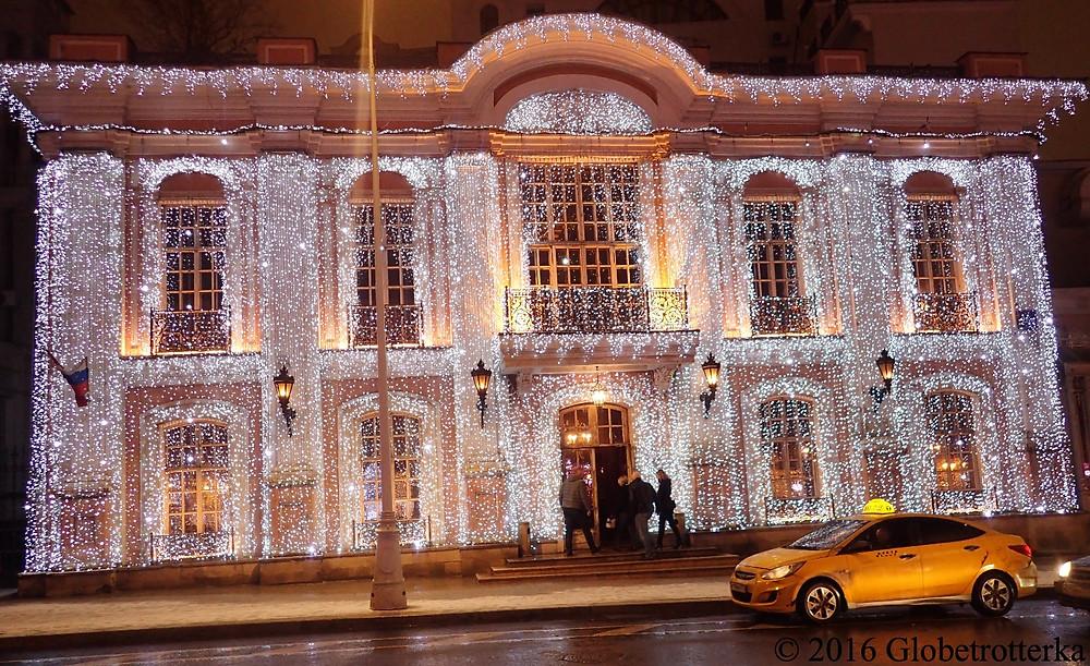 Illuminations du Café Pouchkine sur le boulevard Tverskoï
