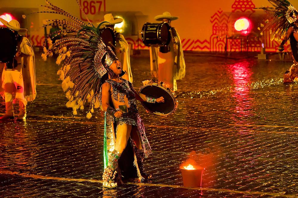 Septième festival Spasskaïa bachnia, groupe folklorique représentant le Mexique, août 2014, photo du site officiel du festival