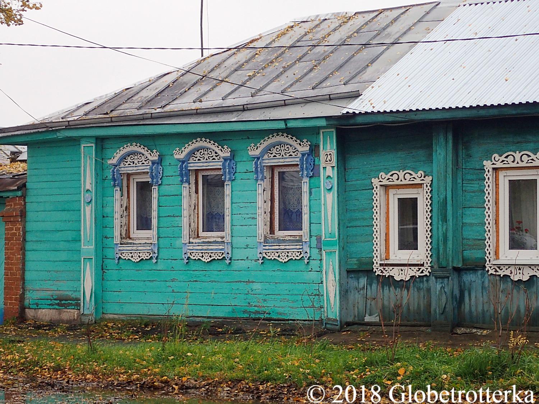 Maison colorée typique de Souzdal