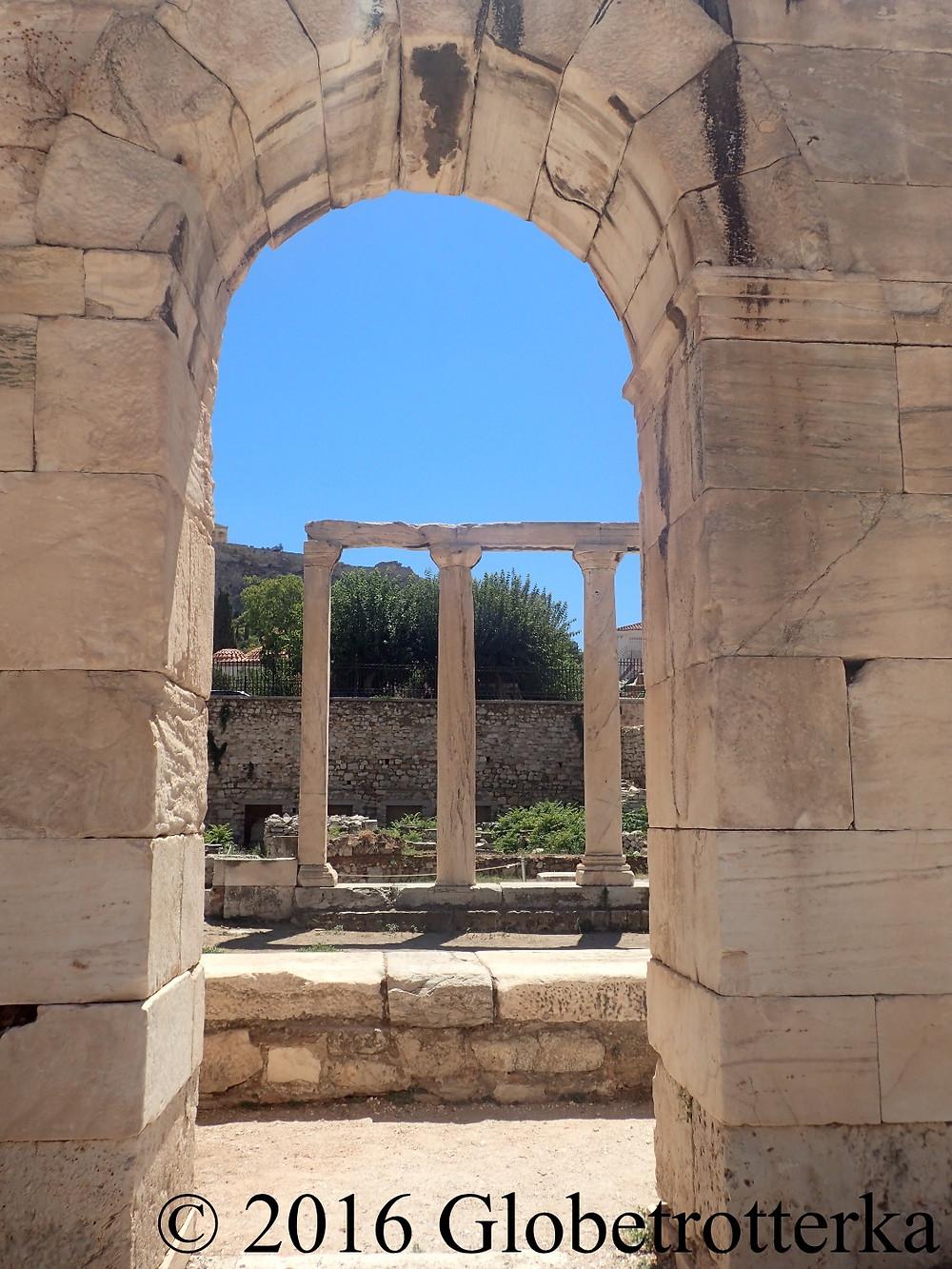 Agora romaine, bibliothèque d'Hadrien. © 2016 Globetrotterka