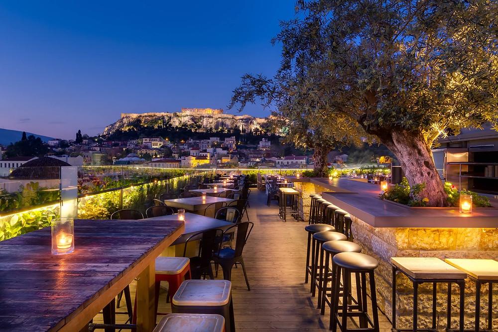 """Vue depuis la terrasse du bar """"360 degrés"""", photo du site officiel du bar 360 degrés"""