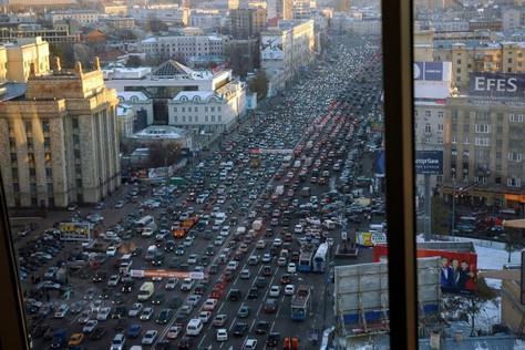 Conduire à Moscou