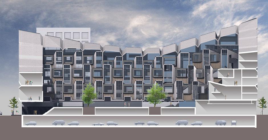 wv-studio: Apartment building Delft