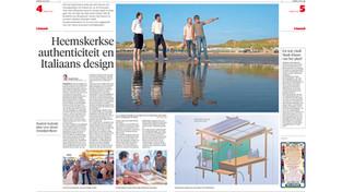 """Publication """"Dagblad Kennemerland"""" Beach pavillion"""