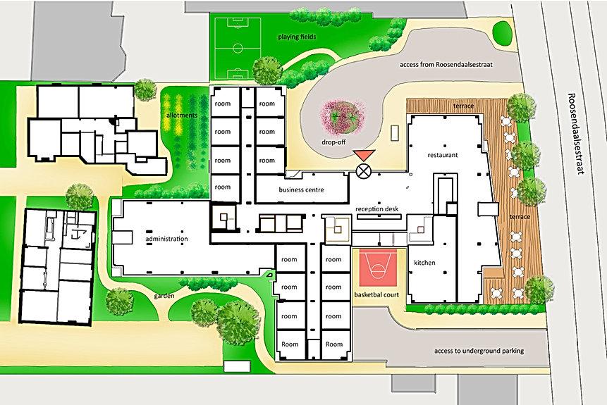 wv-studio: Ground floor plan Hotel Velperpoort