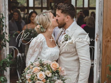 Woods Farm Real Wedding Feature - Renee & Brandon