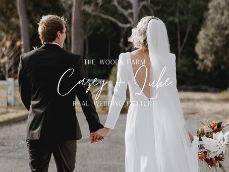 Woods Farm Real Wedding Feature - Casey & Luke