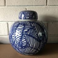 Leaf print vase