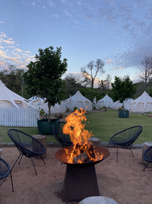 Firepit at the glamping