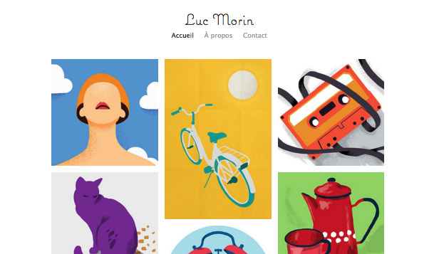 Arts visuels website templates – Portfolio illustrateur