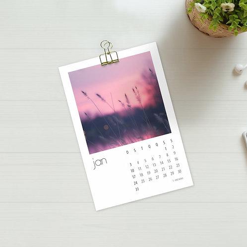 Calendário 2021 pra Foto - 14x9.5 cm
