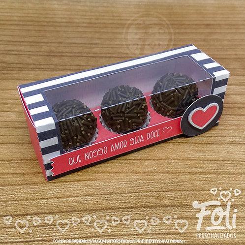 Caixa 3 Doces - Dia dos Namorados