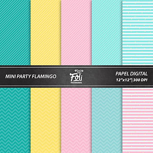 Kit Digital Festa Flamingo