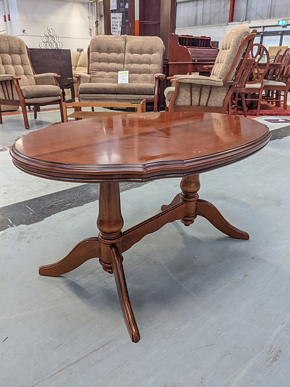 Solid Oval Wood Coffee Table
