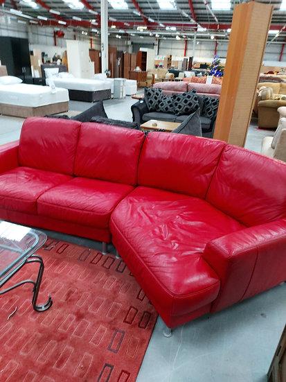 Retro Red Corner Sofa