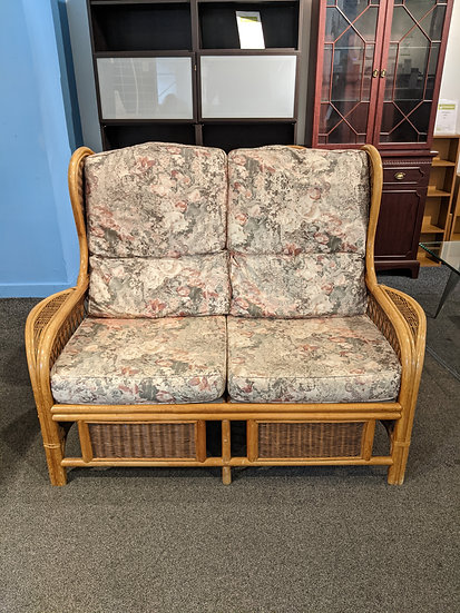 2 Seater Wicker Frame Conservatory Sofa