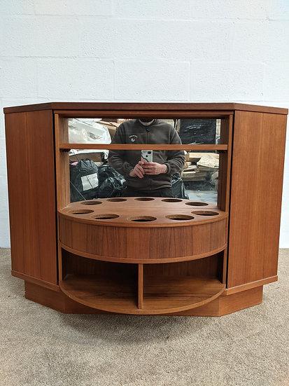 Vintage 1970's Rotating Drinks Cabinet