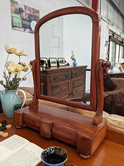 Vintage Wooden Dresser Mirror