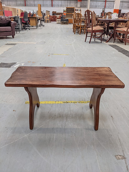 Solid Dark Wood Coffee Table Upcycle project