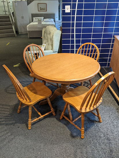 Solid Wooden Table With 4 Chairs