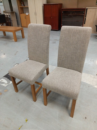 Grey Fabric Dinning Chairs