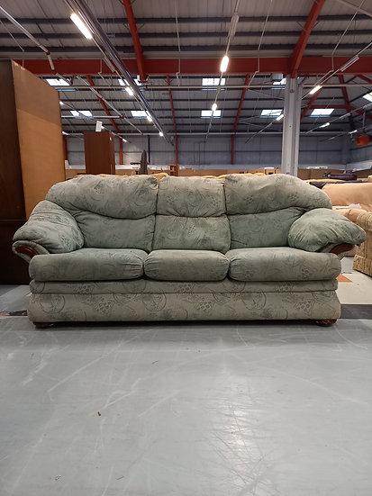 Three Seater Green Sofa