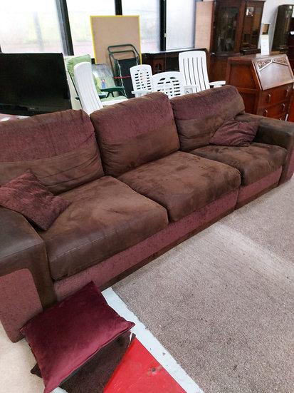 3 Seater Large Brown Sofa