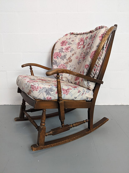 Vintage Wooden Rocking Chair - Upcyling Project