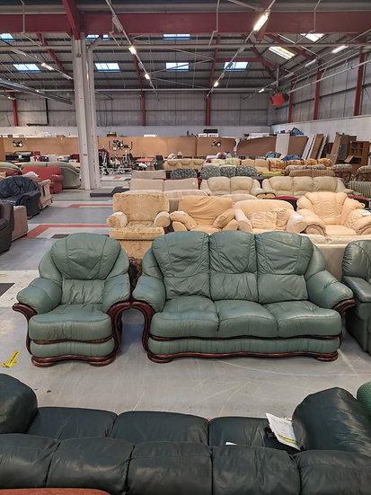 Three Seater Sofa With Armchair