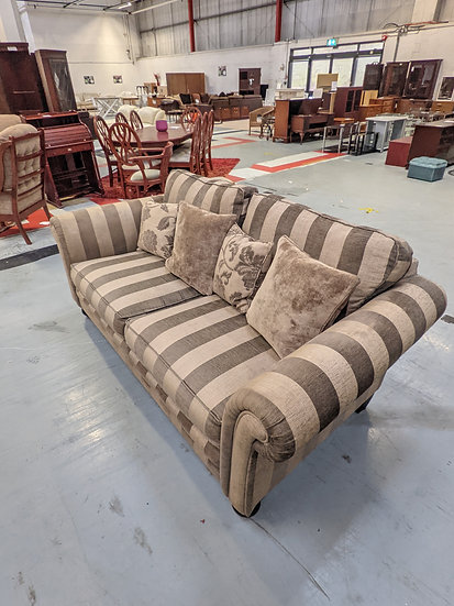 Large Brown Stripe 2 Seat Sofa