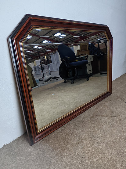 Dark Brown Wooden Mirror