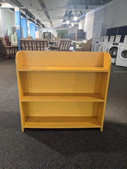Painted Yellow Bookshelf