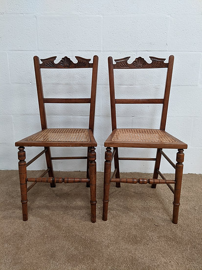 2 Vintage Wooden Chairs
